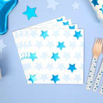 Little Stars Blue Napkins (16)